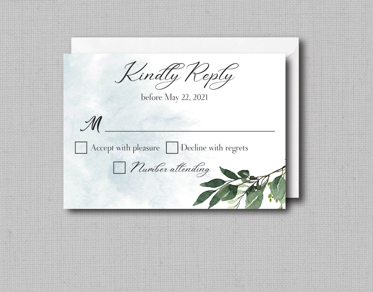 Editable Template Boho Watercolor Greenery Wedding Seating Cards with Eucalyptus  in 2 Sizes L1 4x6 and 5x7 INSTANT DOWNLOAD